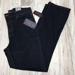 NWT NYDJ Dark Wash Straight Leg Jeans Size 10